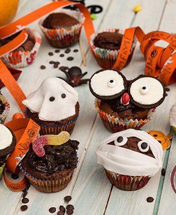 Muffins cu ciocolata de Halloween